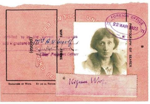 Virginia Woolf's passport, dated 1923.