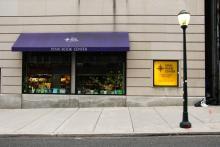 exterior of Penn Book Center on Sansom Street