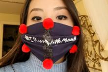 Amy Juang wearing mask