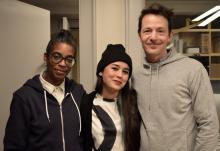 Left to right: Simone White, Sophia Le Fraga, Andrew Whiteman