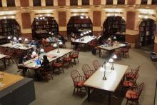 Interior of Fisher Fine Arts Library