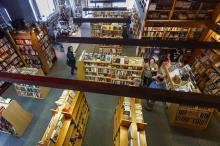 arial shot from inside penn book center