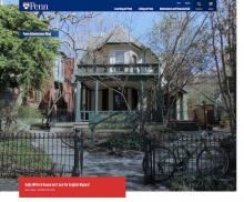 "Exterior of Kelly Writers House overlaid text at top reading ""Penn Admissions Blog"" and at bottom reading ""Kelly Writers House Isn't Just for English Majors! Izzy Lopez 