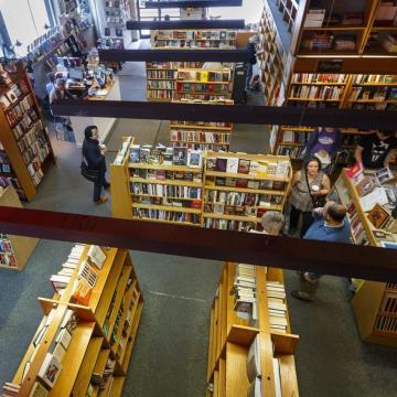 arial shot from inside penn book center