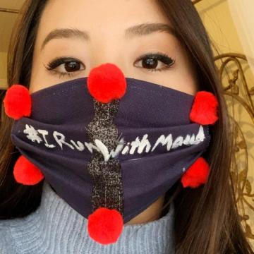 Amy Juang wearing mask